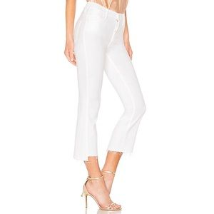 NWT MOTHER The Insider Crop Step Fray